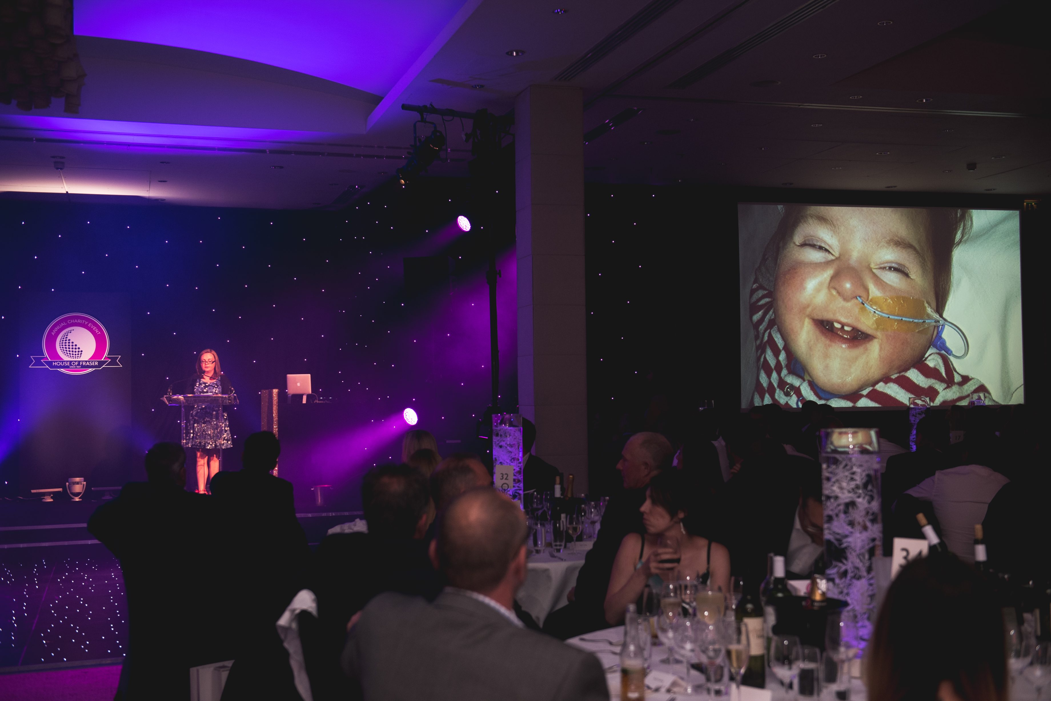 Emma Murphy talks at the House of Fraser Annual Charity Event
