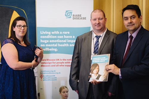 Emma meets co-chair of APPG on Rare, Genetic and Undiagnosed Conditions