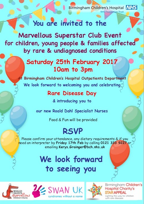 Marvellous Superstar Club event for Rare Disease Day