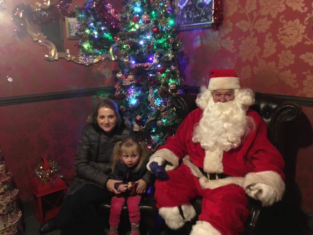 Visiting Santa at Sundown Adventureland
