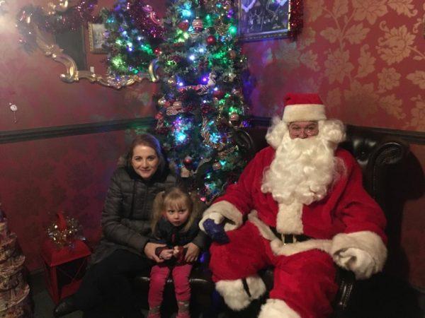 Kathryn, Rosalind and Santa at Sundown Adventureland
