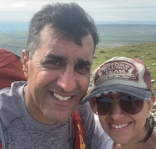 Tej and Suneta doing the three peaks challenge