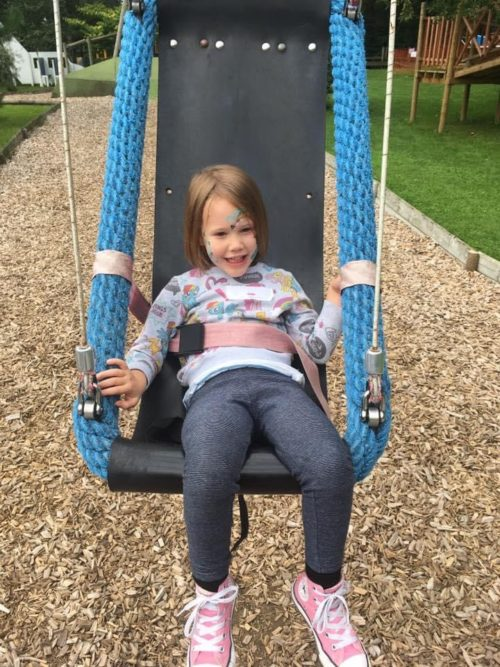 Enid on the swing